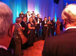 Terrence Orr and board members toasting PBT's 40th anniversary