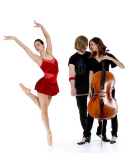 Bodiography's Lauren Suflita with members of Cello Fury