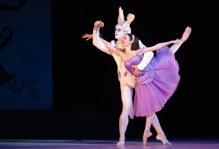 Jillian Vanstone and Aleksandar Antonijevic in Alice's Adventures in Wonderland. Photo: Cylia von Tiedemann