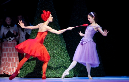 Greta Hodgkinson and Jillian Vanstone in Alice's Adventures in Wonderland. Photo: Cylia von Tiedemann