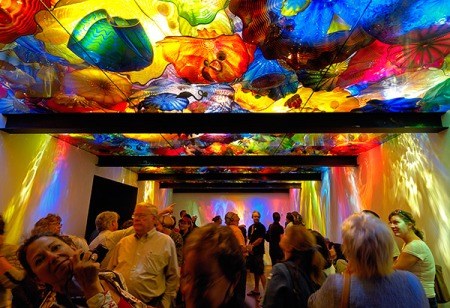 Admiring Chihuly's Persian Ceiling