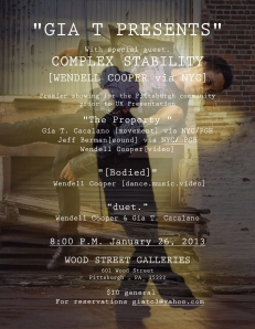 Gia T Presents - January 26, 2013 Flier