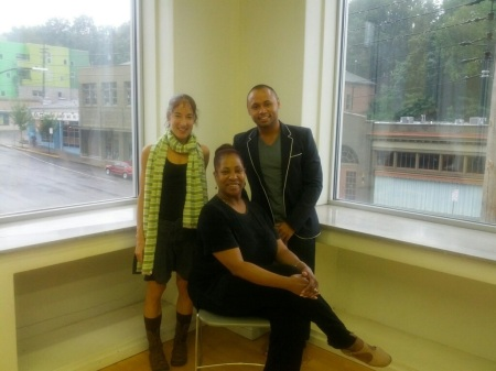 Gia Cacalano and James Washington with Leslie Anderson Braswell (seated)