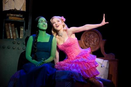 Alison Luff (Elphaba) and Jenn Gambatese (Glinda)