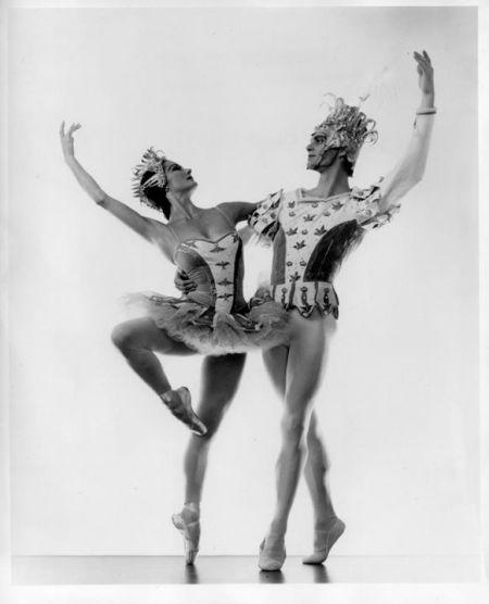 "Jocelyn Vollmar and Richard Carter in the original production of ""Beauty and the Beast."""