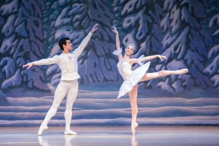 "Tommie Kesten with Damien Martinez in Ballet Academy of Pittsburgh's ""Nutcracker. Photo: Katie Ging."