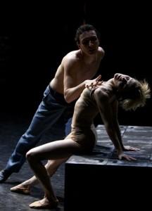 Erik Cavallari (Stanley) and Sophie Laplane (Stella). Photo: Andrew Ross