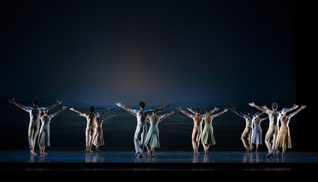 The final, highly emotional image of Pittsburgh Ballet Theatre's production of Sinfonietta. Photo: Martha Rial©
