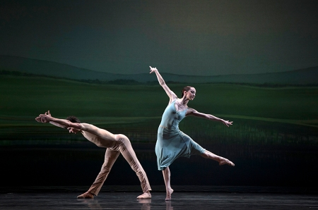 Pittsburgh Ballet Theatre's Luca Sbrizzi and Jessica McCann perform Sinfonietta. Photo: Martha Rial©
