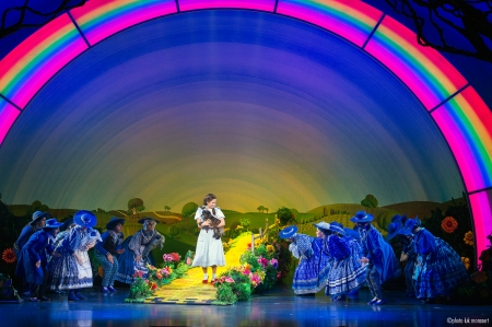 Over the rainbow in Munchkinland.