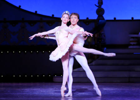 "Alexandra Kochis with Christopher Budzynski in ""The Nutcracker."" Photo: Rich Sofranko"