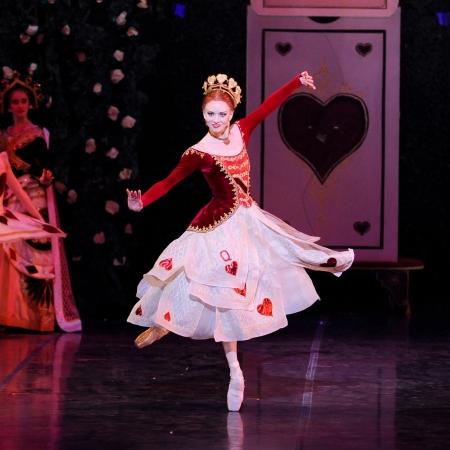 Julia Erickson (Queen of Hearts) presides --